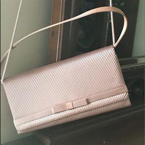 Pink satin bag
